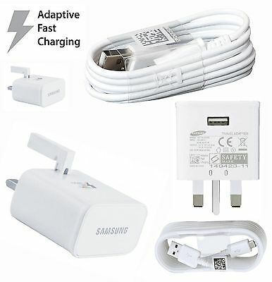 Genuine Samsung Adaptive Fast Charger + Data Cable For Galaxy Note 4 S6 S7 Edge+