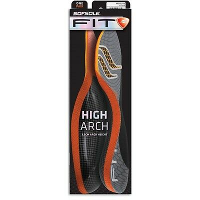 SofSole Fitt Performance High Arch Insole Comfort Cushioning Orthotic Support