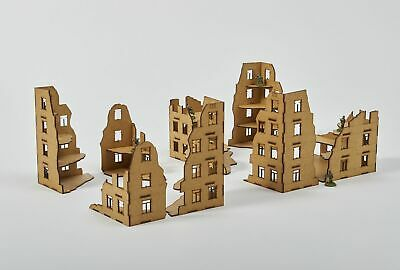 Small RUINS Set - Laser Cut Wargaming Scenery - 28 mm unpainted