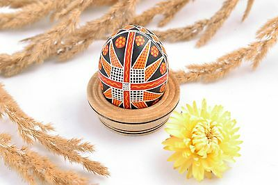 Handmade Ethnic Easter Egg Painted With Ornaments Interior Decor Gift Ideas