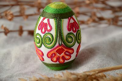 Beautiful Decorative Easter Chicken Egg Handmade With Threads Ethnic Gift Ideas