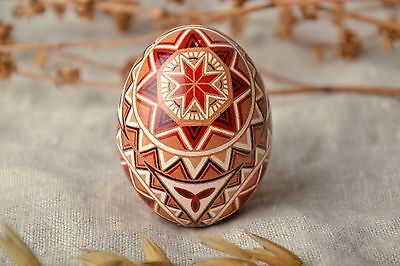 Beautiful Handmade Ethnic Painted Chicken Easter Egg With Ornaments Gift Ideas