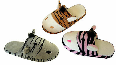 WHOLESALE LOT Boy Girls Animal/Zebra house slippers Unisex 36 pairs-3019