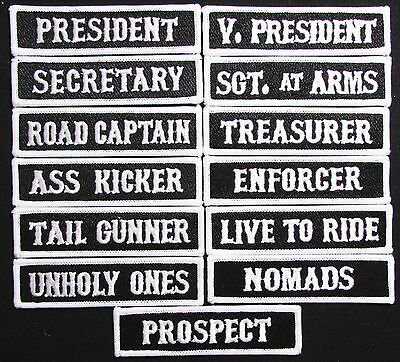 Son Of Outlaw Mc Club Vice President Officer Title Biker 13 Front Patch Set Usa