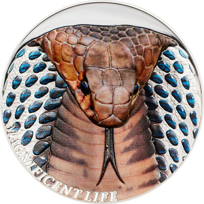 2017 $5 Cook Islands COBRA 1oz 999 Silver Coin - Box and COA - SOLD OUT Series