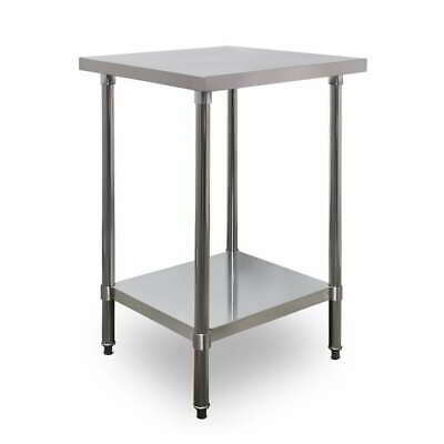 600mm x 700mm New Stainless Steel Kitchen Work Bench Food Prep Catering Table