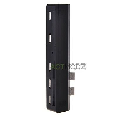5 Ports USB HUB Convertor For Sony PS3 Slim Extension Expansion Adapter Splitter
