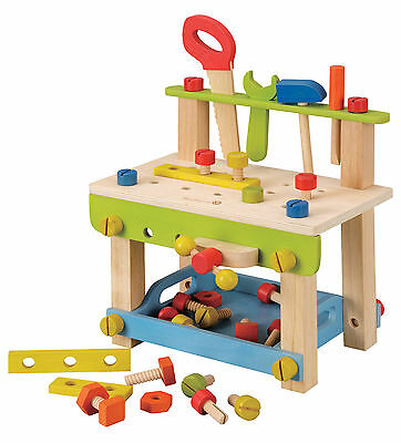 NEW Childrens Wooden Toy Workbench with Tools & Accessories