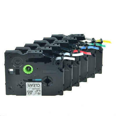 6PK Compatible for Brother P-TOUCH 12mm Label Tape TZ TZe131 231 431 531 631 731