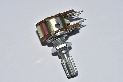 WH148 Potentiometer Double B20K 6 Pin Handle:20MM
