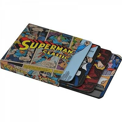 Superman Classic Coaster Set Of Four Pictures Official DC Comics Product New