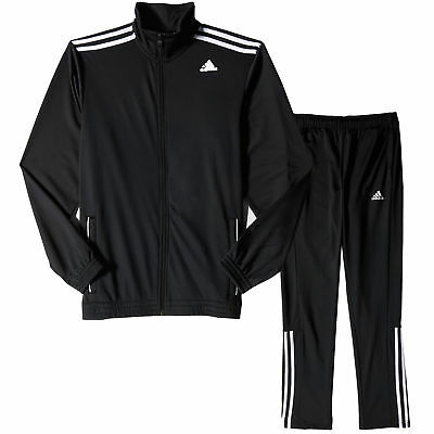 adidas Mens Entry Sports Tracksuit Set Black