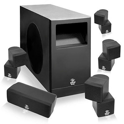 NEW Pyle 5.1 Home Theater Passive Audio System Four Satellite, Center Channe