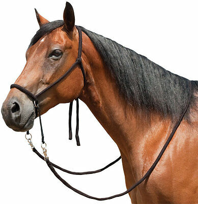 Mustang Manufacturing Rope Bitless Bridle - Brown NEW