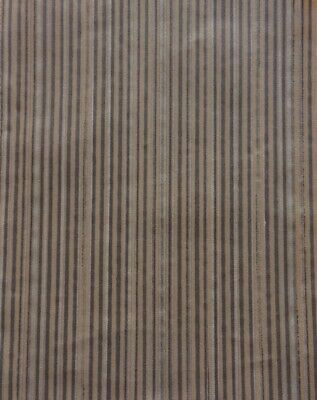 FORTUNY FABRIC Malmaison dark brown/gold stripes New Long staple cotton, Italy