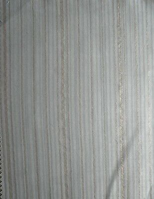FORTUNY FABRIC Malmaison tan/gold stripes on rust New Long staple cotton, Italy