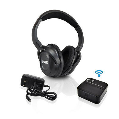 NEW Pyle PIH20 UHF Wireless Headphone w/iPhone/iPod Dock Transmitter & Aux Input