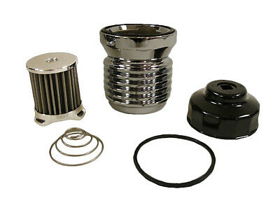 K&P Engineering Stainless Micronic Oil Filter S4 Chrome for Harley Davidson