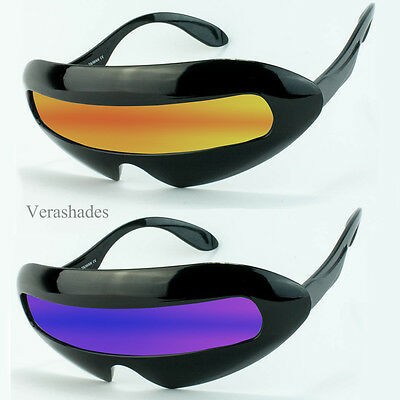 Mirrored Cyclops Futuristic Robocop Alien SunGlasses Party Club Super Shades