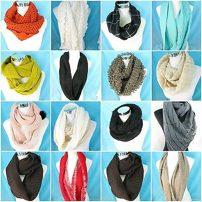 *US SELLER*wholesale lot of 4 winter fall double loop knit infinity scarf
