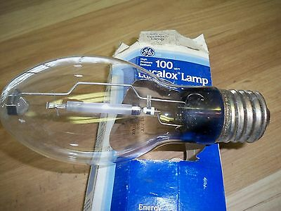 GE HPS Lucalox Lamp GENERAL ELECTRIC  100W LU100 S54 - Mogul Base