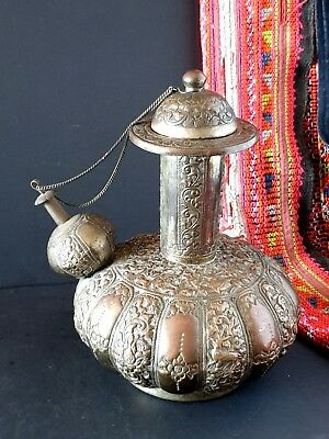Old Tibetan Ornate Ewer Wine Decanter …beautiful Collection and statement piece