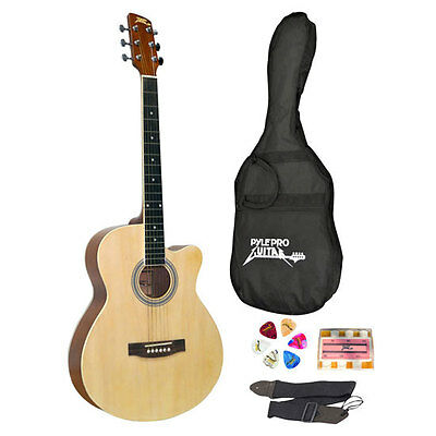 "NEW Pyle PGAKT39 39"" Inch Beginner Jammer  Acoustic Guitar w/ Carrying Case"