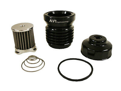 K&P Engineering Stainless Micronic Oil Filter S4 A  Black for Harley Davidson