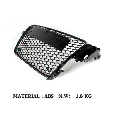 Front Honeycomb Meshes Grilles Grill Fit for Audi A5 S5 Sline 09-11 RS5 Style