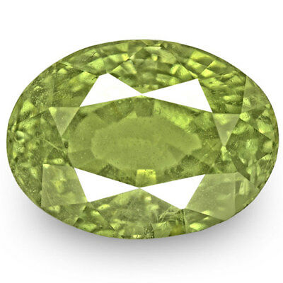 5.05-Carat GIA-Certified Oval-Cut Yellowish Green Alexandrite from Madagascar