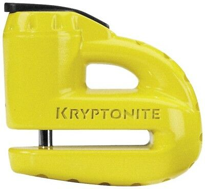Kryptonite Mx Keeper 5-S2 Motocross Dirt Bike Moto Yellow Disc Lock w/ Reminder