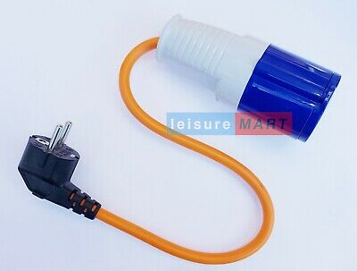 Euro / Continental Caravan and Motorhome Hook Up Adaptor 230 Volt