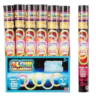 12 Pack Glow Stick Bracelets Necklaces Bangles Party Accessories Camping Dark