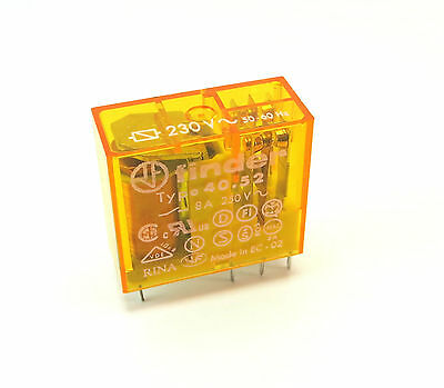 40.52.8.230.0000  RELAY, POWER, DPDT, 230VAC /8a/5,0mm - FINDER - 405282300000