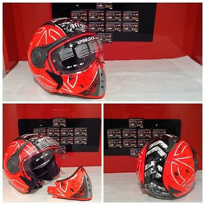 Casco Airoh J-106 Command Orange Gloss Fluo Taglia Xl