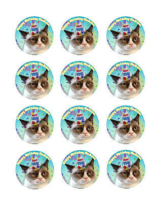 Grumpy CAT Edible CUPCAKE Toppers ICING Image(12)  FREE SHIPPING Personalized