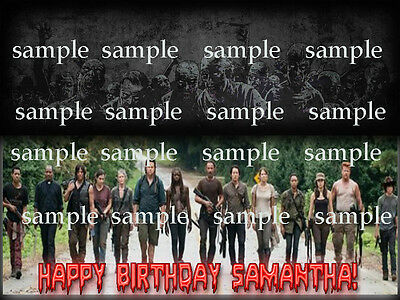 Walking DEAD Group Personalized Edible CAKE Topper ICING Image Decoration