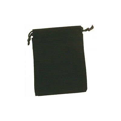 "Packs Of 12 Black Velvet Drawstring Pouch - 3"" x 4"""