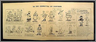 To The Committee On Uniforms & Helpful Hints WW1 Cartoon by Pvt. Wally Wallgren