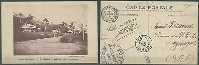 Cameroon 1916 Army Post PPC from Douala to Bangui. Franchise Militaire