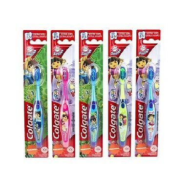 8x, 16x or 24x Colgate Junior Smiles Dora/Diego (2-4yrs) Toothbrushes. Bulk Save
