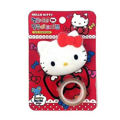 Sanrio Hello Kitty Face Shaped Tape Dispenser with Extra Refill : Red