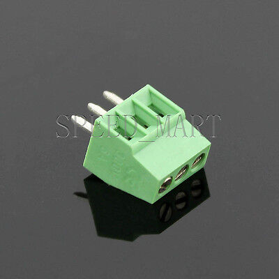 3 poles/3 Pin 2.54mm 0.1'' PCB Universal Screw Terminal Block Connector