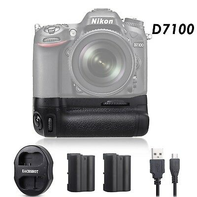 Meike Battery Grip Nikon for D7100 D7200 as MB-D15, 2* EN-EL15 Dual charger