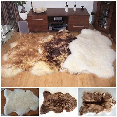 Beautiful Rare Sheepskin Rugs Very Large Natural various Colours And Size