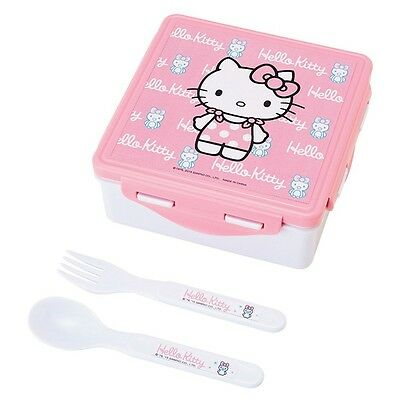 Sanrio Hello Kitty Lunch Container W Spoon & Fork : Kitty with Penguin