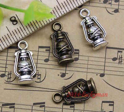 Wholesale Lot Retro Jewelry Making DIY Old Oil Lamp Alloy Charms Pendant  8x16mm