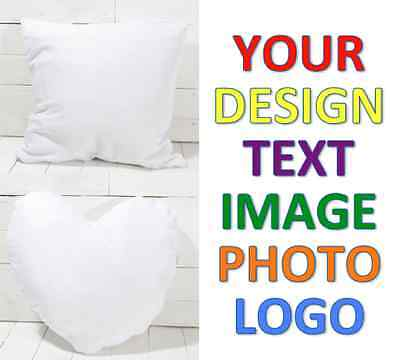 Personalised Luxury Cushion Cover Your Image Photo Logo Text Perfect Gift Idea
