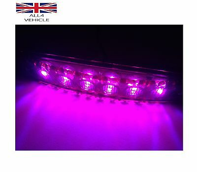 4X 12V Led Purple Side Marker Lights For Scania Iveco Daf Man Volvo Mercedes