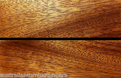 African Mahogany Wood Knife Scales (Bookmatched)